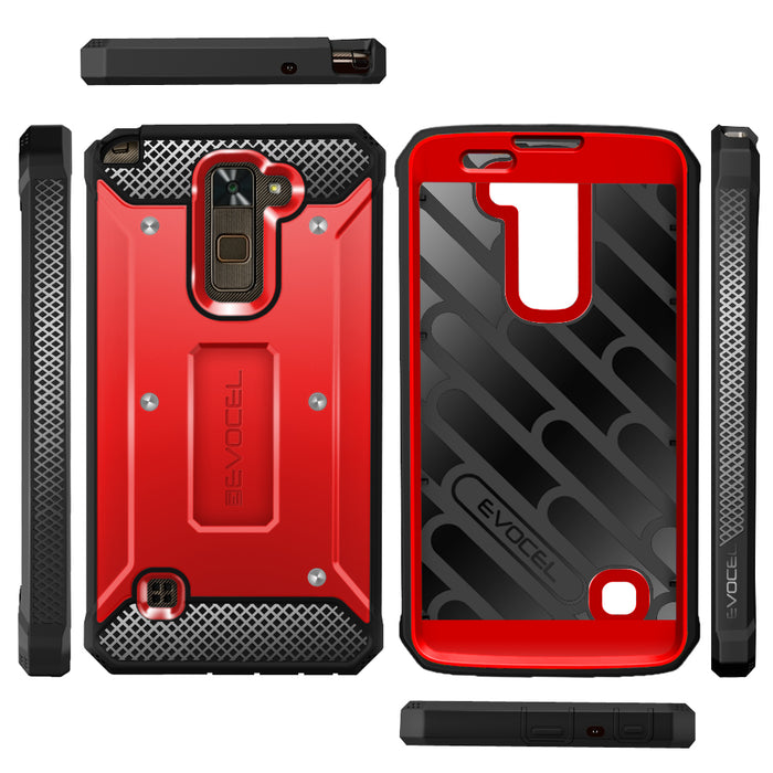 Evocel LG Stylo 2 Plus Explorer Series Red Case
