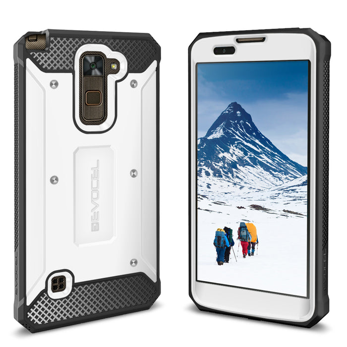 Evocel LG Stylo 2 Plus Explorer Series White Case