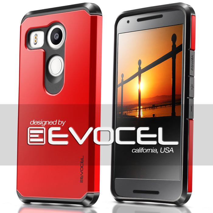 Evocel LG Nexus 5x Armure Series Brilliant Red Case