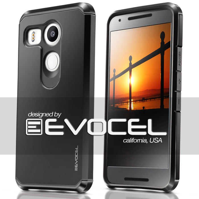 Evocel LG Nexus 5x Armure Series Brilliant Black Case