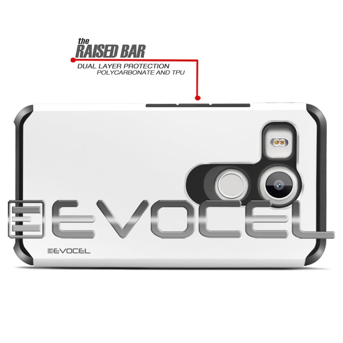 Evocel LG Nexus 5x Armure Series Brilliant White Case