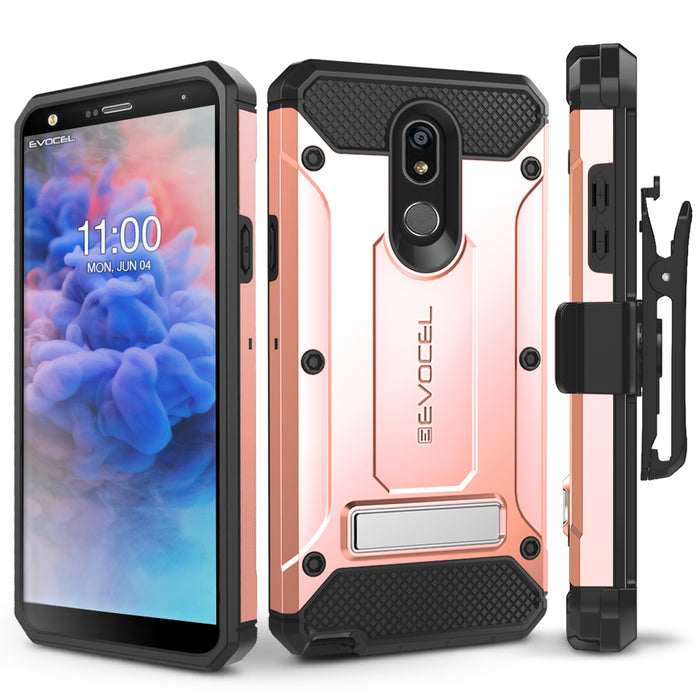 Evocel LG Stylo 5 Explorer Series Pro Rose Gold Case