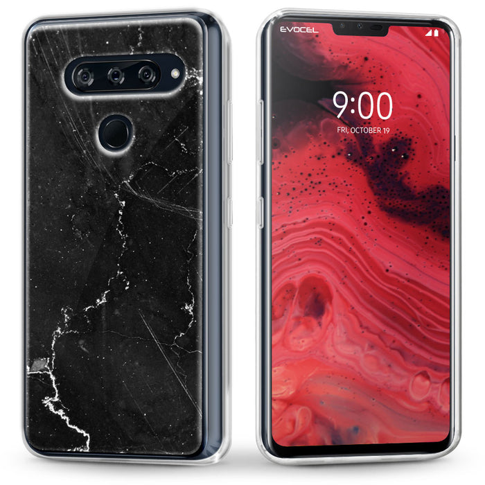 Evocel LG V40 ThinQ Iconic Series Black Marble Case