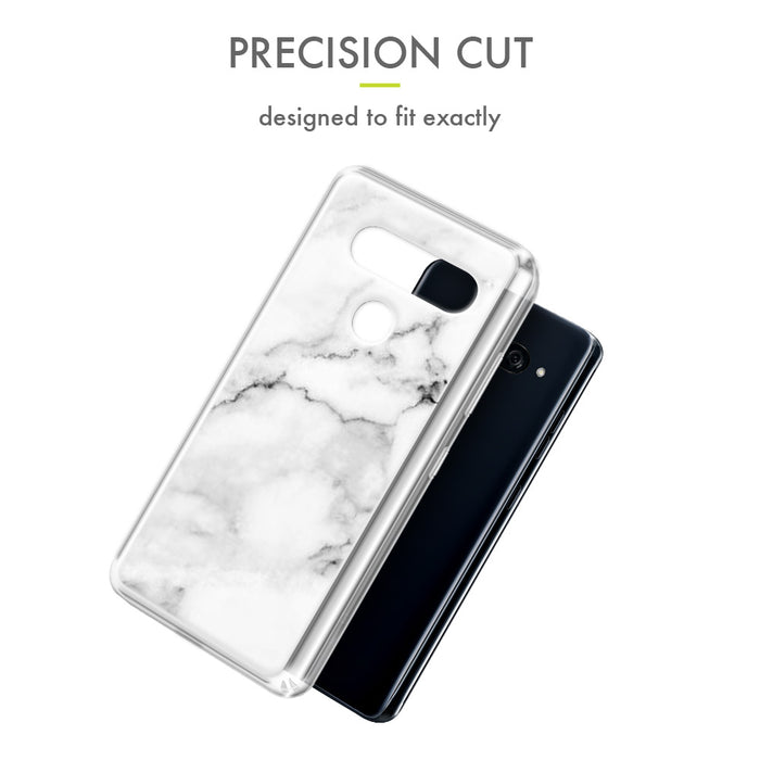 Evocel LG V40 ThinQ Iconic Series White Marble Case