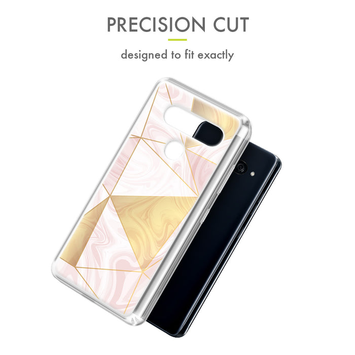 Evocel LG V40 ThinQ Iconic Series Geometric Rose Gold Case