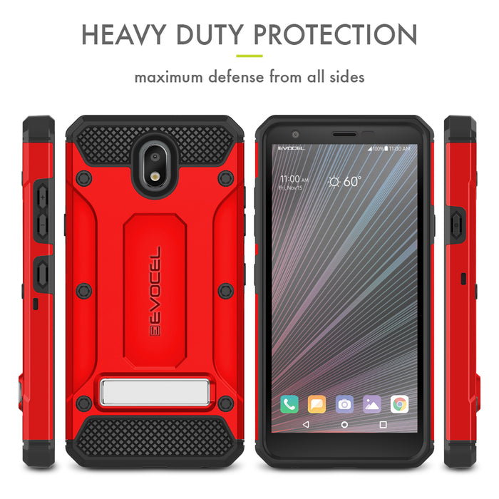 Evocel LG Escape Plus Explorer Series Pro Red Case