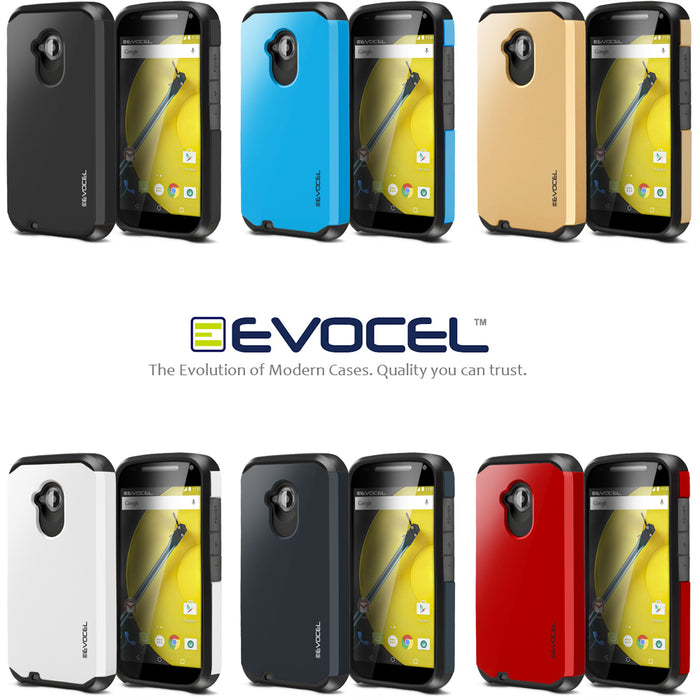 Evocel Motorola Moto E2 Armure Series Shadow Blue Case