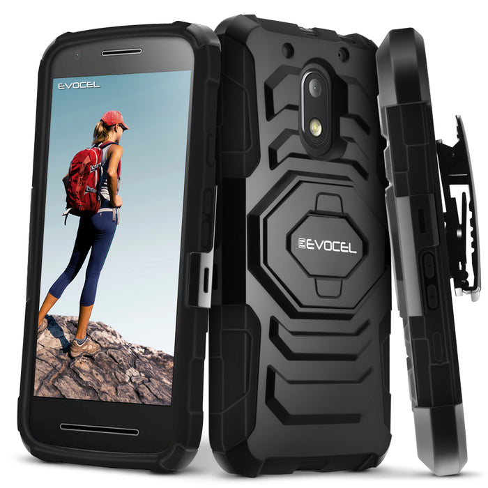 Evocel Motorola Moto E3 New Generation Series Black Case