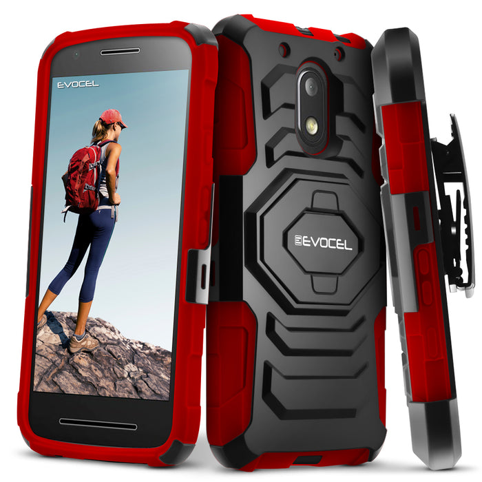 Evocel Motorola Moto E3 New Generation Series Red Case