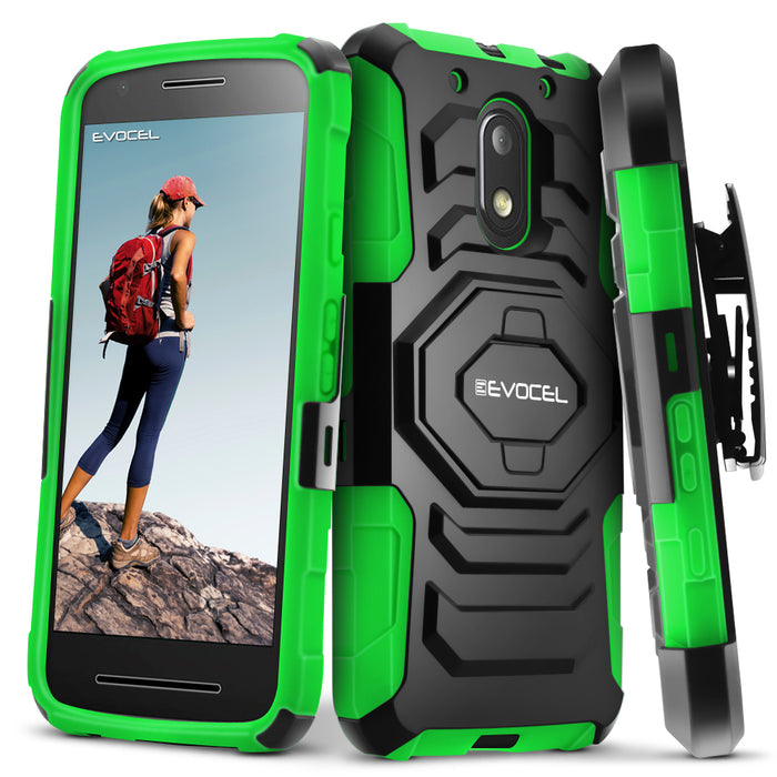 Evocel Motorola Moto E3 New Generation Series Green Case