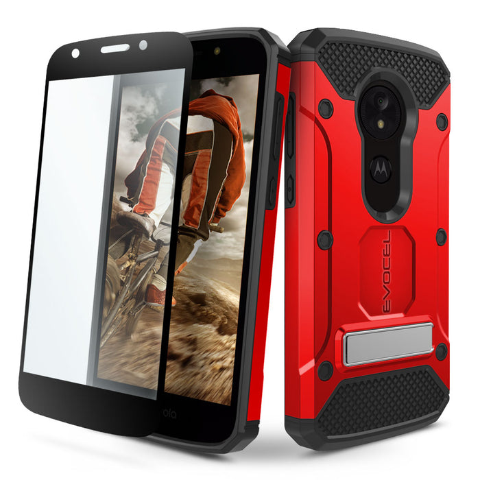 Evocel Motorola Moto E5 Play Explorer Series Pro Red Case