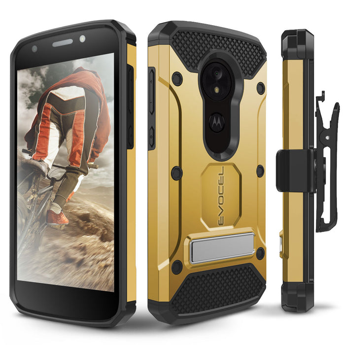 Evocel Motorola Moto E5 Play Explorer Series Pro Gold Case