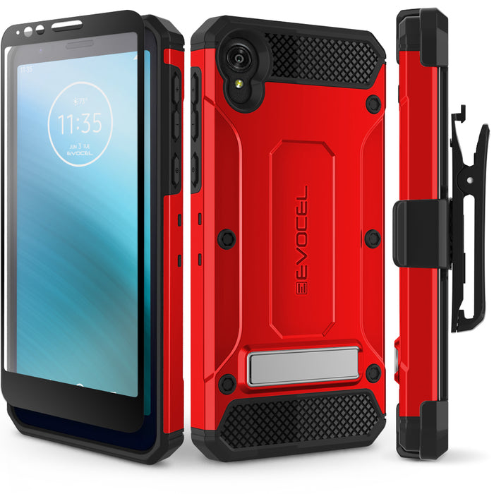Evocel Motorola Moto E6 Explorer Series Pro Red Case