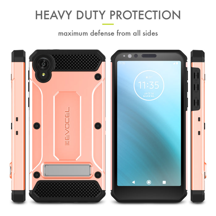 Evocel Motorola Moto E6 Explorer Series Pro Rose Gold Case