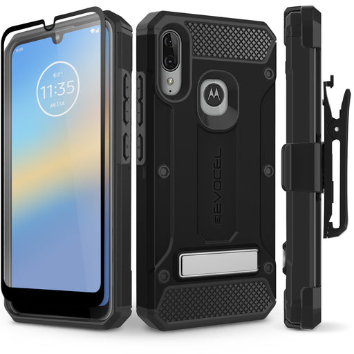 Evocel Motorola Moto E6 Plus Explorer Series Pro Black Case
