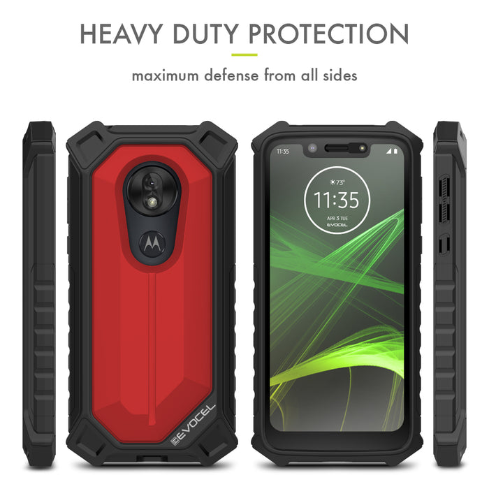 Evocel Motorola Moto G7 Play EvoGuard Red Case