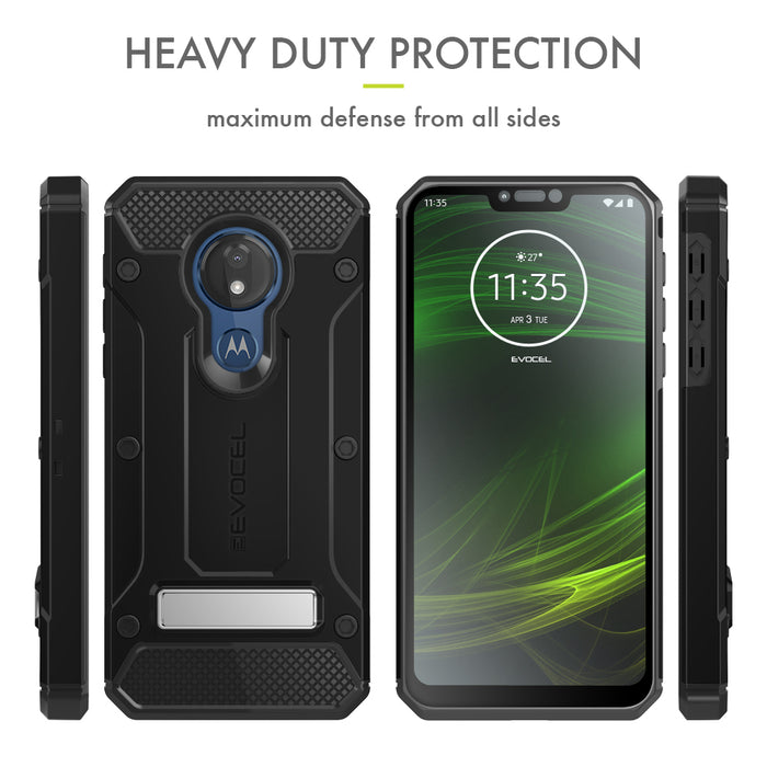 Evocel Motorola Moto G7 Power Explorer Series Pro Black Case