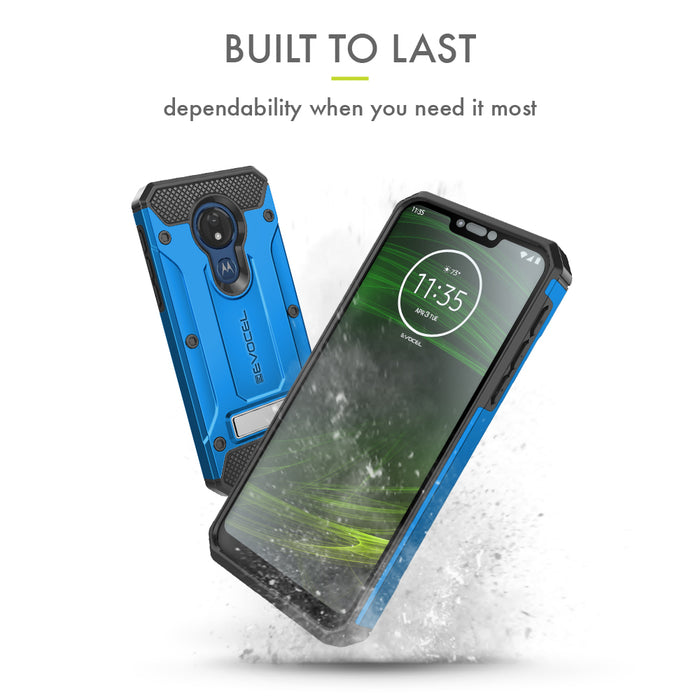 Evocel Motorola Moto G7 Power Explorer Series Pro Blue Case