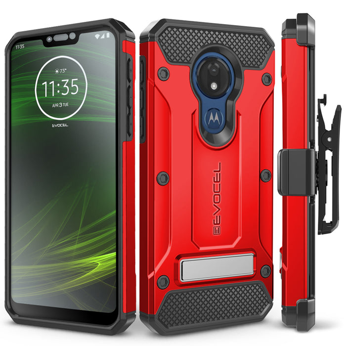Evocel Motorola Moto G7 Power Explorer Series Pro Red Case
