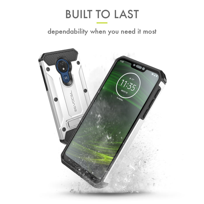 Evocel Motorola Moto G7 Power Explorer Series Pro Silver Case
