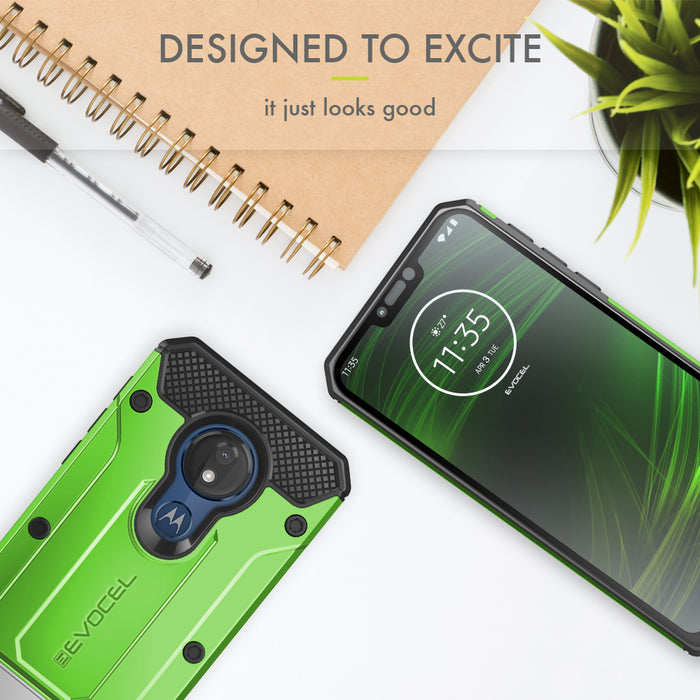 Evocel Motorola Moto G7 Power Explorer Series Pro Green Case