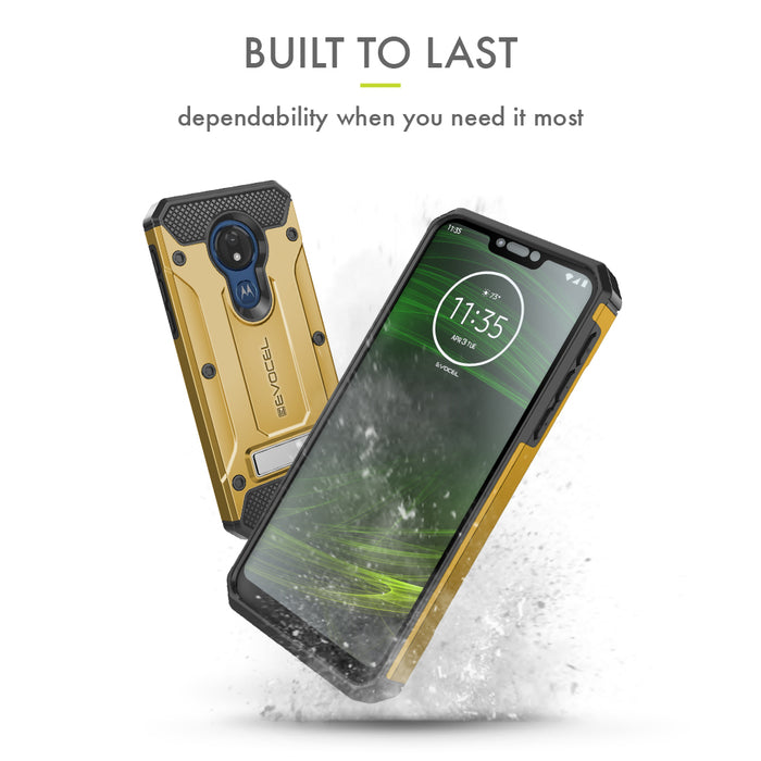 Evocel Motorola Moto G7 Power Explorer Series Pro Gold Case