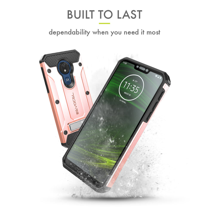 Evocel Motorola Moto G7 Power Explorer Series Pro Rose Gold Case