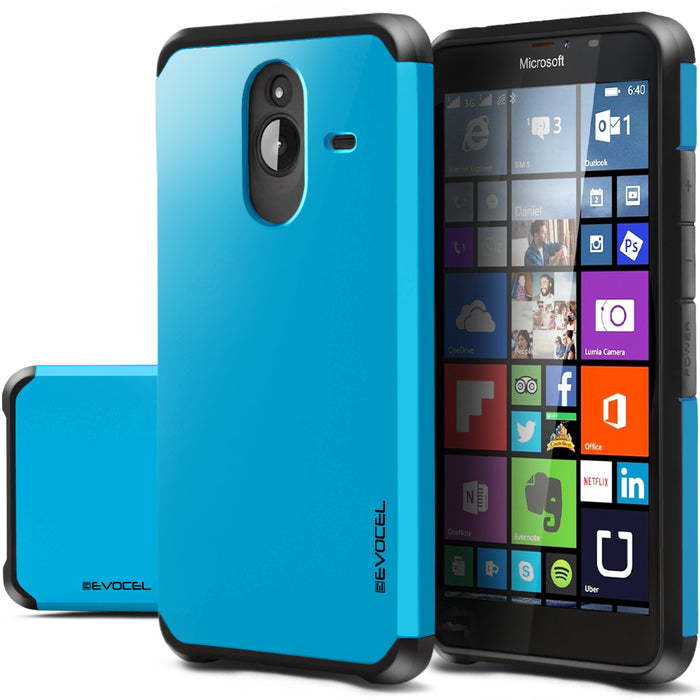 Evocel Microsoft Lumia 640XL Armure Series Blue Case