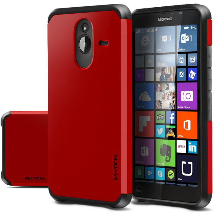 Evocel Microsoft Lumia 640XL Armure Series Red Case
