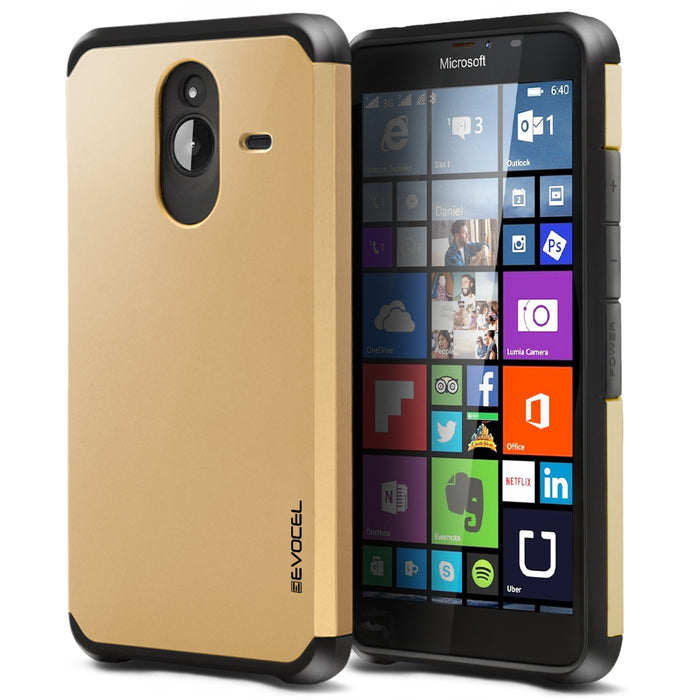 Evocel Microsoft Lumia 640XL Armure Series Gold Case