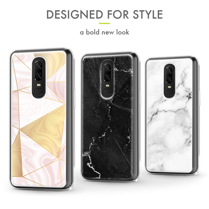 Evocel OnePlus 6T Iconic Series Black Marble Case