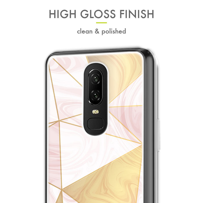 Evocel OnePlus 6T Iconic Series Geometric Rose Gold Case