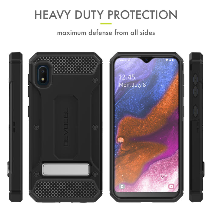 Evocel Samsung Galaxy A10E Explorer Series Pro Black Case