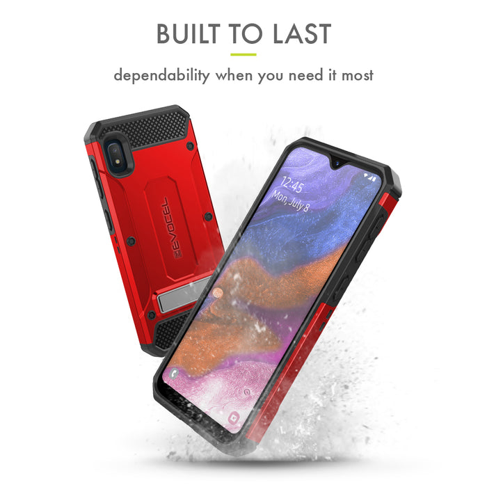 Evocel Samsung Galaxy A10E Explorer Series Pro Red Case