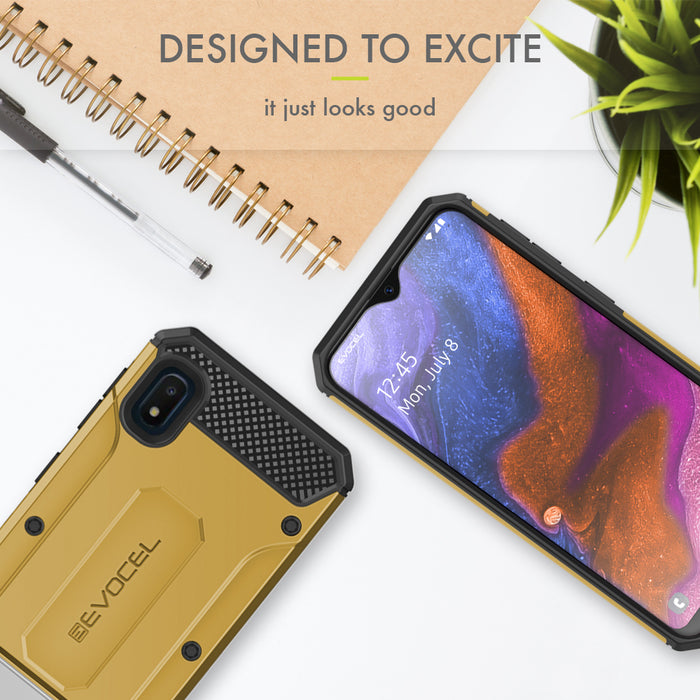 Evocel Samsung Galaxy A10E Explorer Series Pro Gold Case
