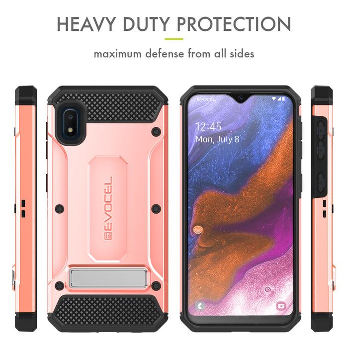 Evocel Samsung Galaxy A10E Explorer Series Pro Rose Gold Case