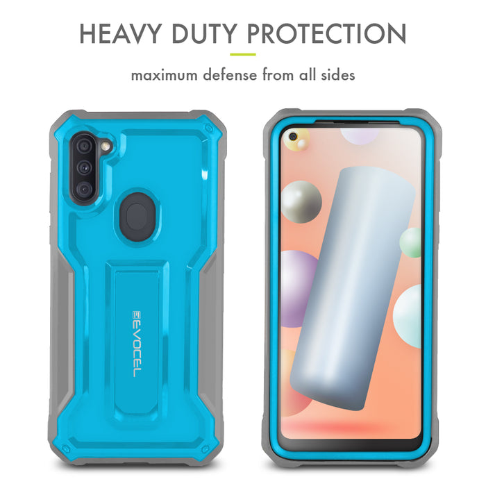 Evocel Samsung Galaxy A11 Kaliber Series Blue Case