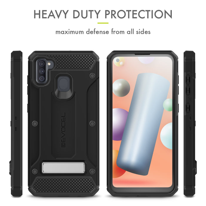 Evocel Samsung Galaxy A11 Explorer Series Pro Black Case