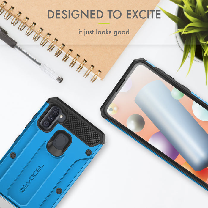 Evocel Samsung Galaxy A11 Explorer Series Pro Blue Case