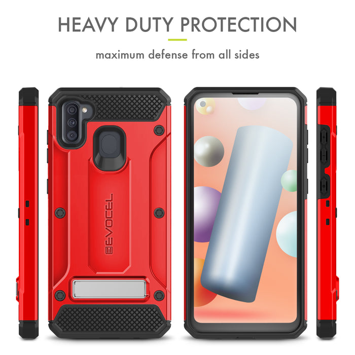 Evocel Samsung Galaxy A11 Explorer Series Pro Red Case
