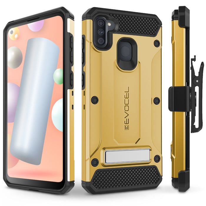 Evocel Samsung Galaxy A11 Explorer Series Pro Gold Case