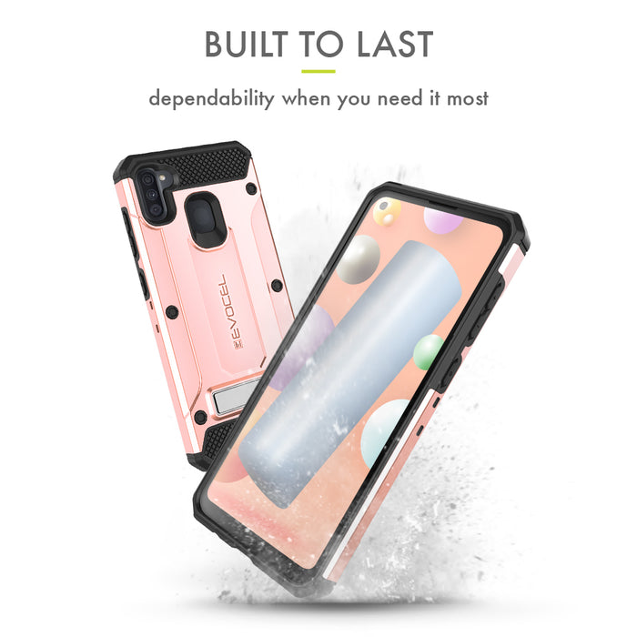 Evocel Samsung Galaxy A11 Explorer Series Pro Rose Gold Case