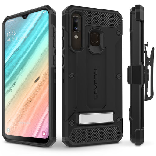 Evocel Samsung Galaxy A20 Explorer Series Pro Black Case