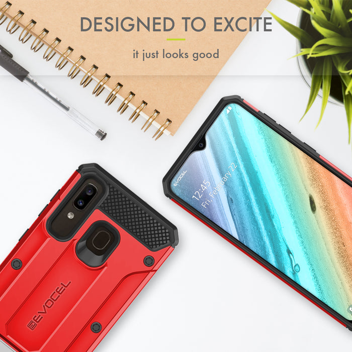 Evocel Samsung Galaxy A20 Explorer Series Pro Red Case