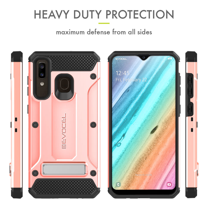 Evocel Samsung Galaxy A20 Explorer Series Pro Rose Gold Case