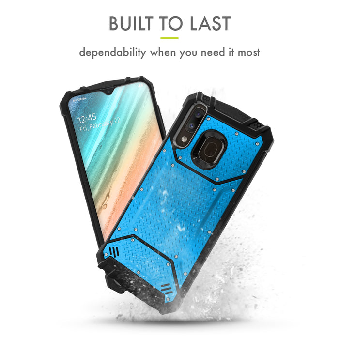Evocel Samsung Galaxy A20 Magnext Series Blue Case
