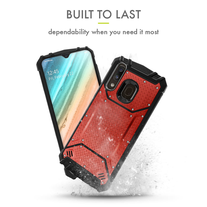 Evocel Samsung Galaxy A20 Magnext Series Red Case