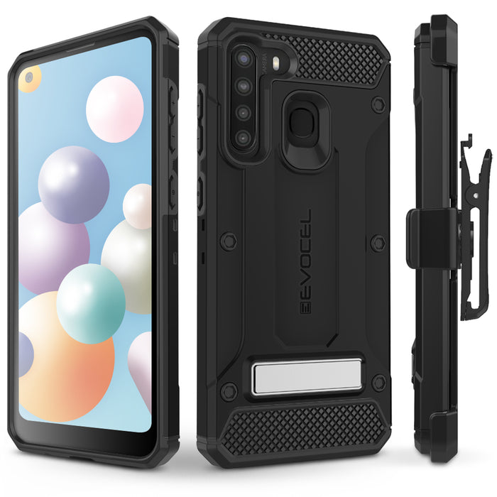 Evocel Samsung Galaxy A21 Explorer Series Pro Black Case