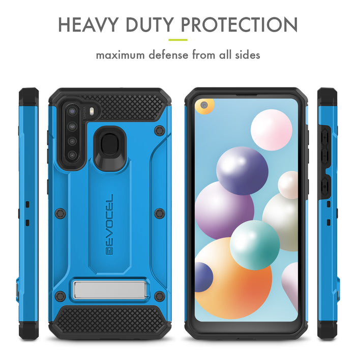 Evocel Samsung Galaxy A21 Explorer Series Pro Blue Case