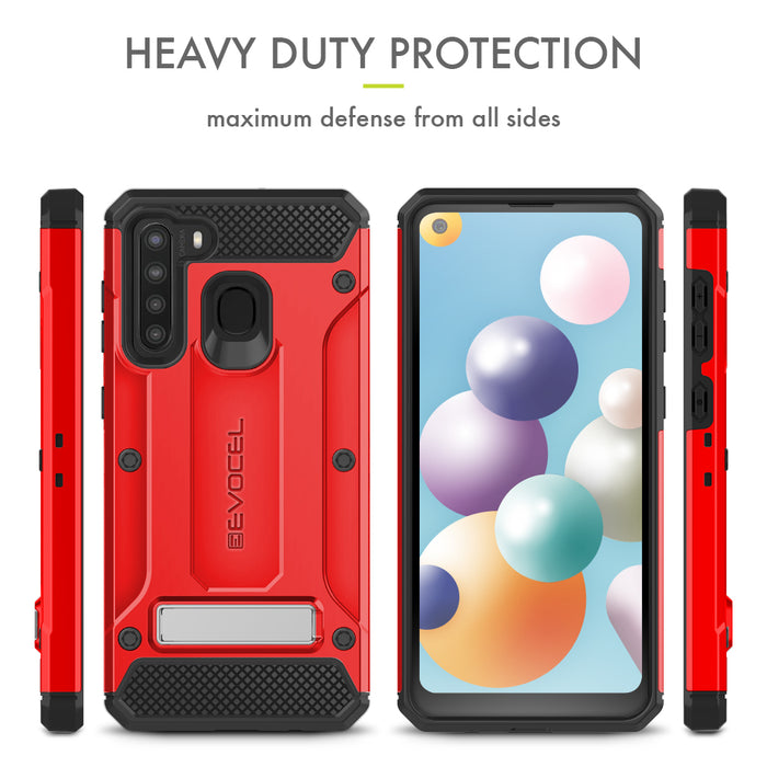 Evocel Samsung Galaxy A21 Explorer Series Pro Red Case